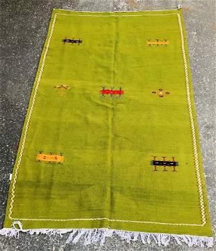 Vintage Tribal Moroccan Rug or Carpet in Green