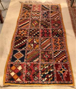 Moroccan Tribal Wool Abstract Rug or Carpet