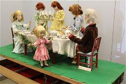 German Compo. Automaton Family At Holiday Dinner