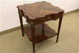 Maitland Smith Square Side Table with drawers
