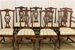 8 Chippendale Style Dining Chairs