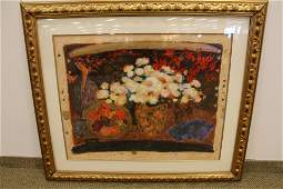 """Red and White Flowers"""" Signed Wentworth Gallery Signed"""
