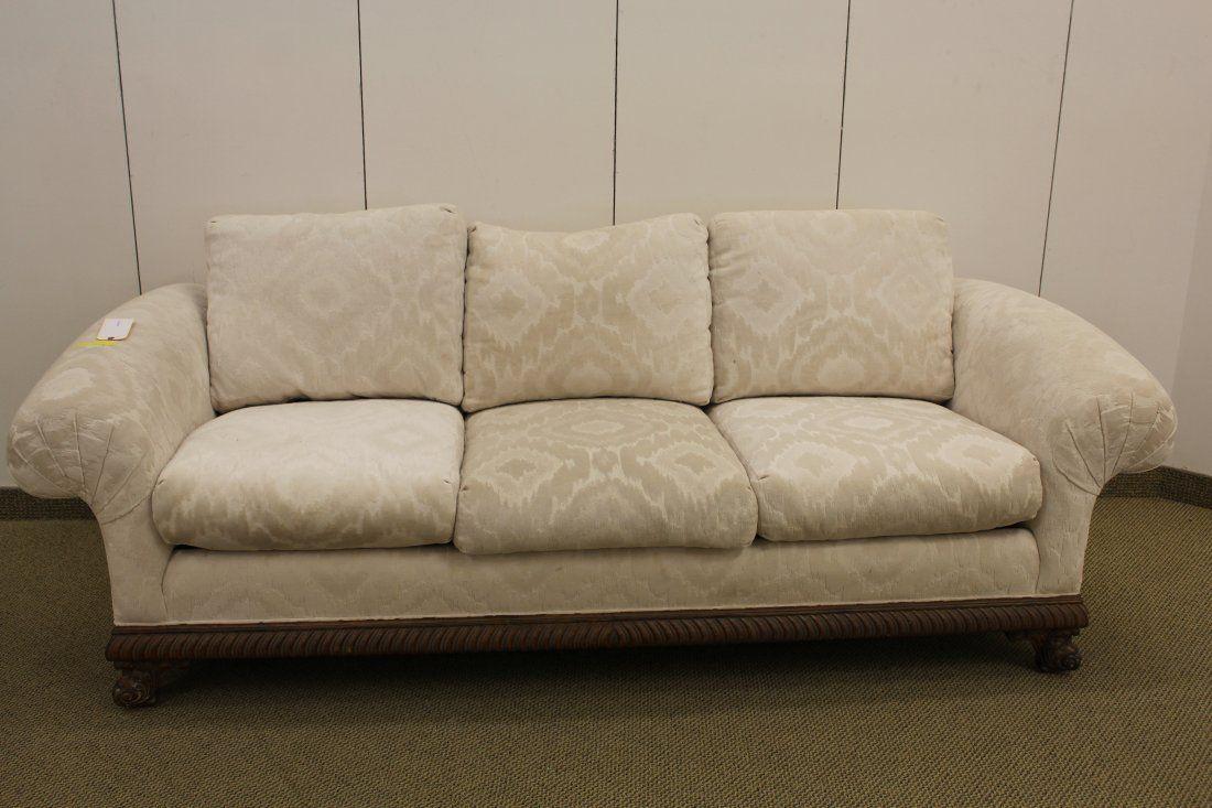 Contemporary Cream Upholstered Sofa