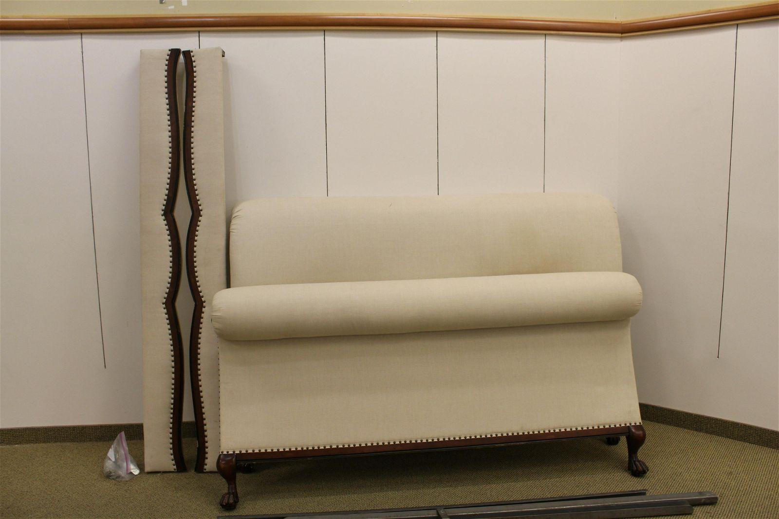 Ralph Lauren King Size Upholstered Sleigh Bed