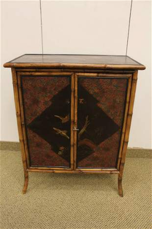 Aesthetic Movement Bamboo Cabinet