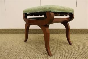 Regency Style Upholstered Footstool