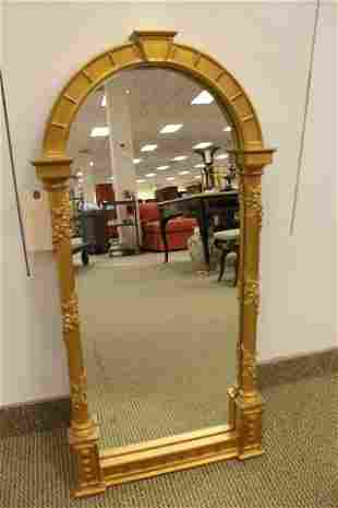 Gilt Wood Neo-Classical Mirror by Carver's Guild