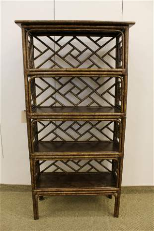 David Francis painted Ch. Chippendale Bamboo Etagere #1