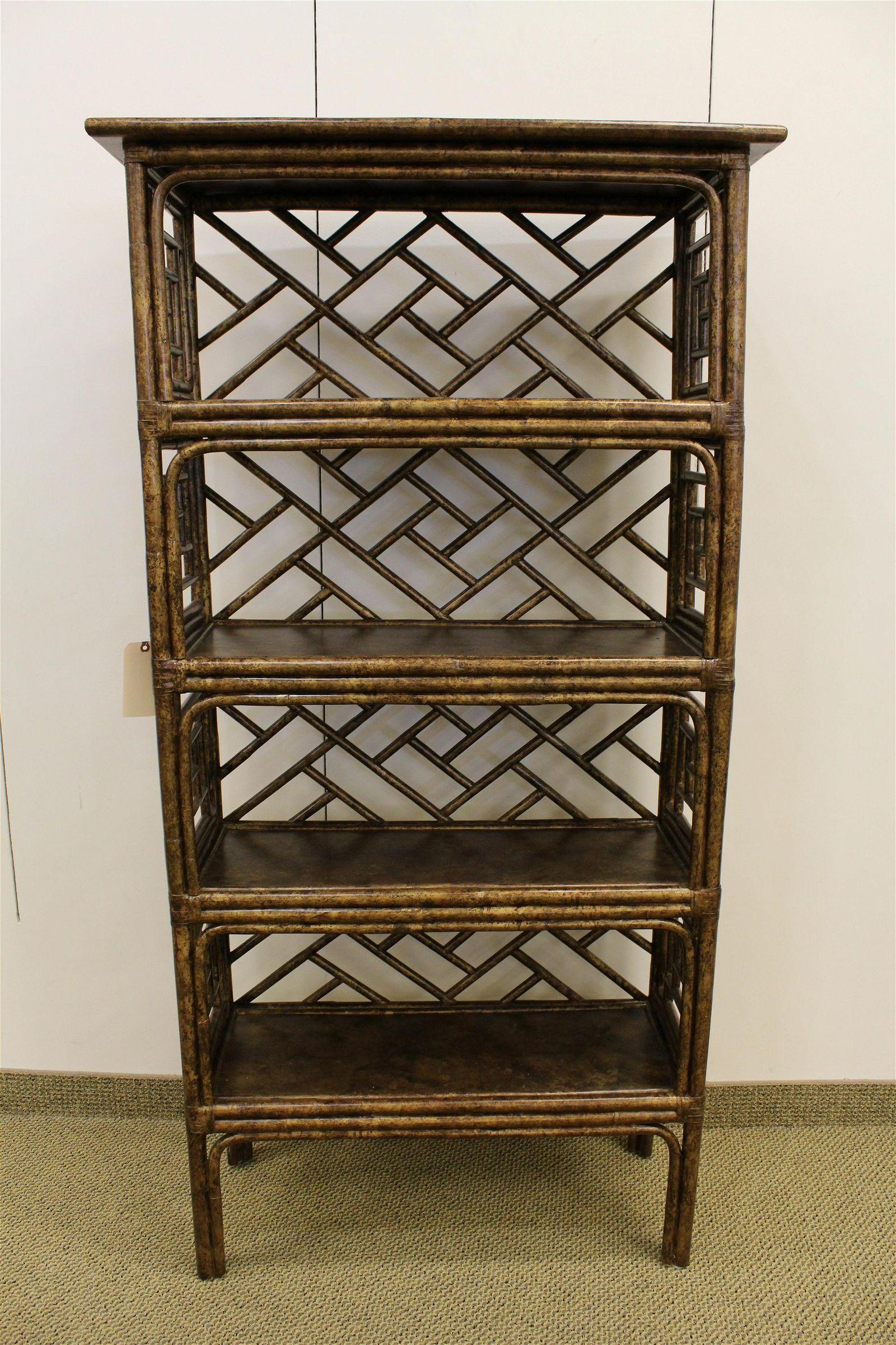 David Francis painted Ch. Chippendale Bamboo Etagere #2