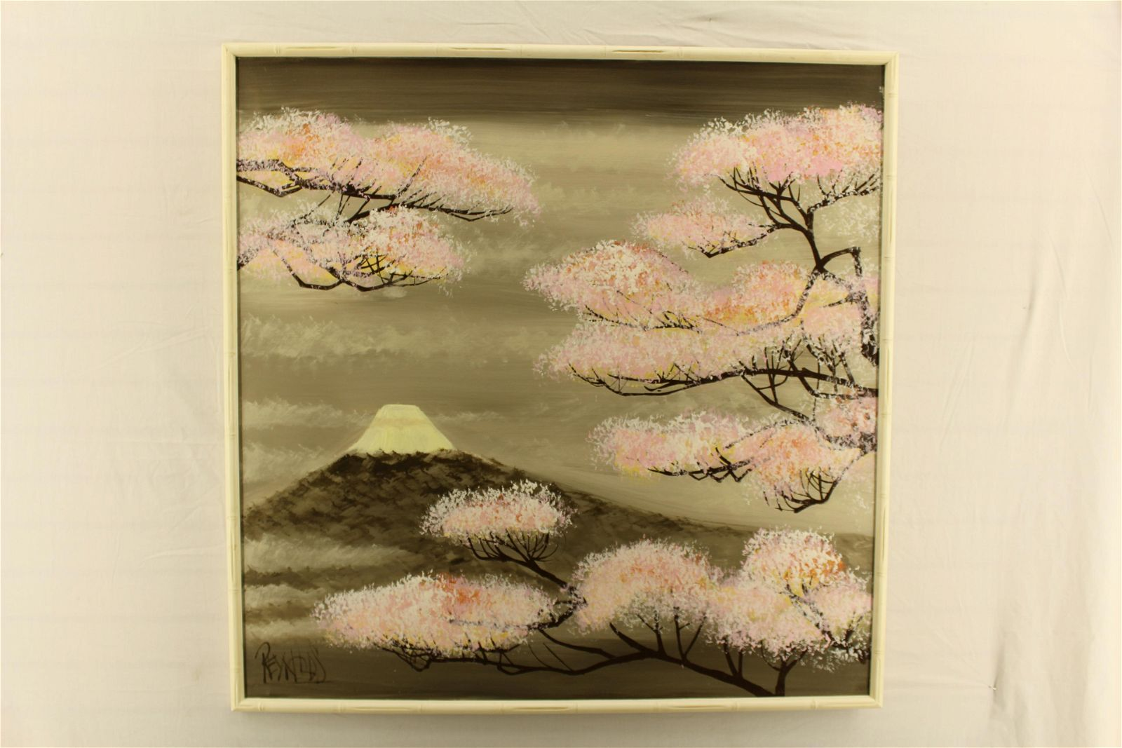 Lee Reynolds Oil on Canvas Japanese Cherry Trees
