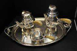 Fine William de Matteo 4 Pc. Sterling Silver Tea