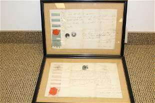 2 Early Masonic Letters C 1803 Highland-Ely Parker