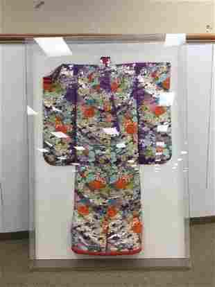 Framed Japanese Kimono