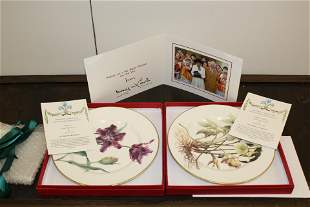 HRH Prince Charles Signed Christmas Card and Plates