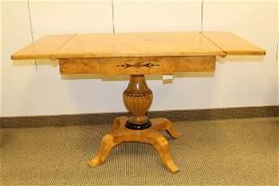 BIEDERMEIER Birchwood Ebonized Drop Leaf Sofa Table