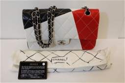 CHANEL Lagerfeld Quilted Leather Flap Bag