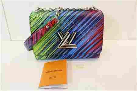 Authentic LOUIS VUITTON TWIST PM Leather Shoulder Bag