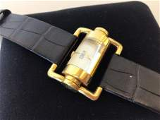 Corum 18K Gold Cylinder Piston Watch Ladies