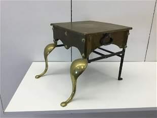 Queen Ann Brass Wrought Iron Kettle Stand