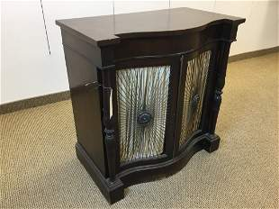Regency Style 2 Door Serpentine Cabinet Console