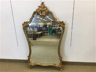 Louis XV style Gilt Carved Wood Mirror