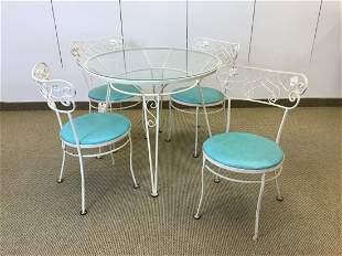Gallo Wrought Iron Works MCM Patio Table Set