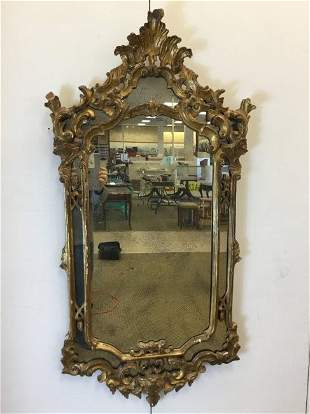 Venetian Carved Gilt Mirror