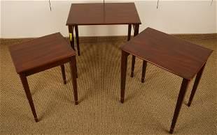 Henkel Harris Mahogany Inlaid Nesting Tables