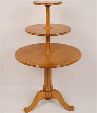 Biedermeier 3-Tier Pedestal Table