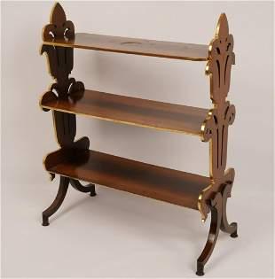 William IV Gilt Rosewood 3-Tier Shelf