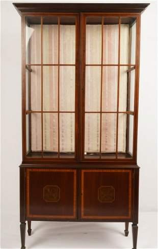 Federal Style Mahogany Display Cabinet