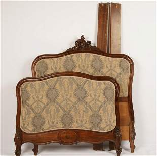 Louis XV Style Carved Upholstered Full Bed
