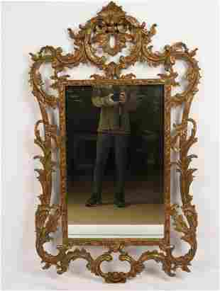 Carved and Gilt Wood Louis XV Style Mirror