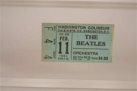 Beatles 1964 Washington Coliseum Concert Ticket