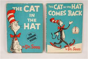 Dr. Seuss Cat in the Hat books 1st Editions