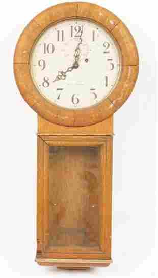 Seth Thomas Oak Wall Clock
