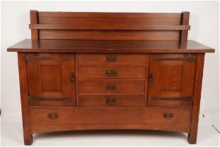 L&JG Stickley Oak Sideboard