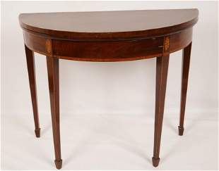 American Federal Inlaid Card Table