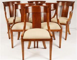 6 Empire Style Baker Dining Chairs