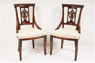 Pair Empire Style Side Chairs