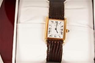 Cartier 18K Gold Tank Watch