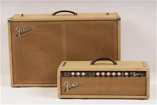 1963 Fender Bandmaster 6G7 Blonde Guitar Amplifier
