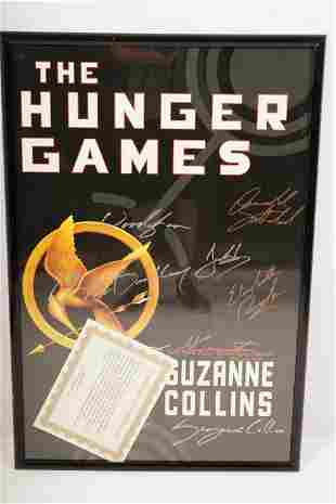 """""""The Hunger Games"""" Movie Poster SIGNED"""