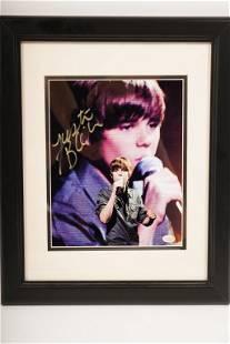 Signed Justin Bieber Photo