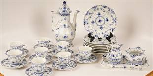 Royal Copenhagen Porcelain Tea Service