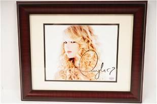 Signed Taylor Swift Photo