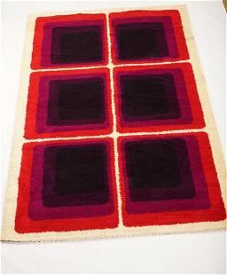 Danish MidCentury Wilton Wool Rya Rug