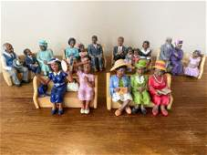 Lot of 6Black Church African American Adorable Figures