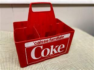 Old Coca Cola Coke Bottle Carrier in French