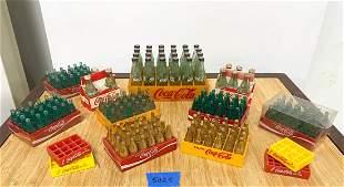 Lot Old Original Miniature Coca Cola Bottles Metal 50s+